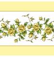 rose pattern on white horizontal vector image
