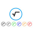 sqrt rounded icon vector image