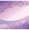purple background with delicate snowflakes vector image vector image