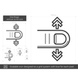 One-finger vertical scroll line icon vector image
