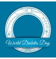World diabetes day background vector image vector image