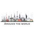 Travel Concept Around the World vector image