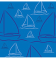Hand drawn sailing boat pattern in format vector image