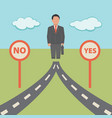 no yes solution concept business vector image