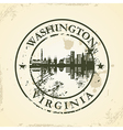 Grunge rubber stamp with Washington Virginia vector image