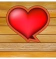 Glow heart on wood background  EPS8 vector image vector image