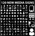 new media signs vector image