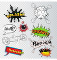 Comic speech bubbles sound effects cloud explosio vector image vector image