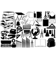 different school objects vector image vector image