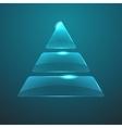 glass pyramid icon Eps10 vector image