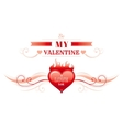 Happy Valentines day border heart fire Romance vector image