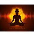 Man silhouette meditating vector image
