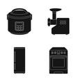 multivarka refrigerator meat grinder gas stove vector image