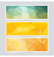 Polygon abstract banner pattern background in flat vector image