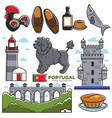portugal travel tourism lisbon souvenir symbols vector image