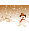snowman Christmas background vector image
