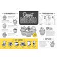 vintage dessert menu design fast food menu vector image