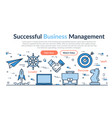 web site header - successful business management vector image