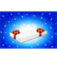 Gift box is on winter background vector image vector image