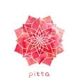 Pitta dosha Ayurvedic body type vector image