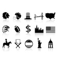 American symbol icons vector image vector image