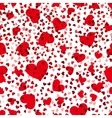 Red hearts seamless pattern love repeat vector image