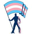 transgender pride flag bearer vector image vector image