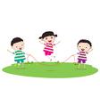 Little Kids skipping vector image