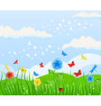 spring solar background vector image vector image