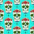 Sketch mexican skull vector image