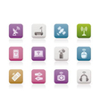 wireless and communication technology icons vector image vector image