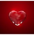 Glass transparent heart vector image