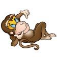 laying monkey vector image
