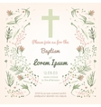 Baptism invitation card vector image