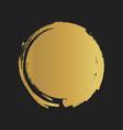 golden grunge vintage painted shapes vector image