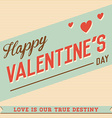 Happy Valentines Day Hand Lettering Typographical vector image