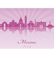 Messina skyline in purple radiant orchid vector image