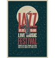 Poster with a saxophone for jazz festivals vector image