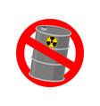 Prohibiting signs Biohazard Crossed barrel of vector image