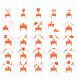 set of coocing on brazier icons vector image