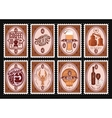 set of postage stamps Template with various vector image