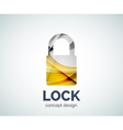 Lock logo business branding icon created with vector image