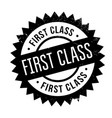 first class rubber stamp vector image vector image