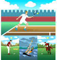 colorful active leisure collection vector image