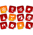 Seasons stickers vector image