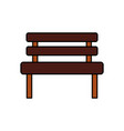 bench park rest comfort chair decoration vector image