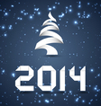 Blue New Year Background 2014 vector image