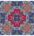 Colorful glaze seamless pattern of mandalas vector image