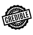 Credible rubber stamp vector image