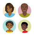 happy african american family avatars vector image